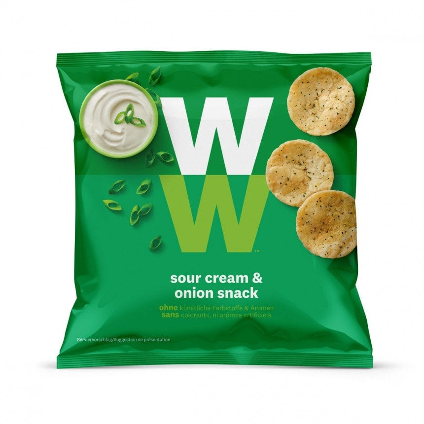 Verpakking WW Sour Cream & Onion chips snack