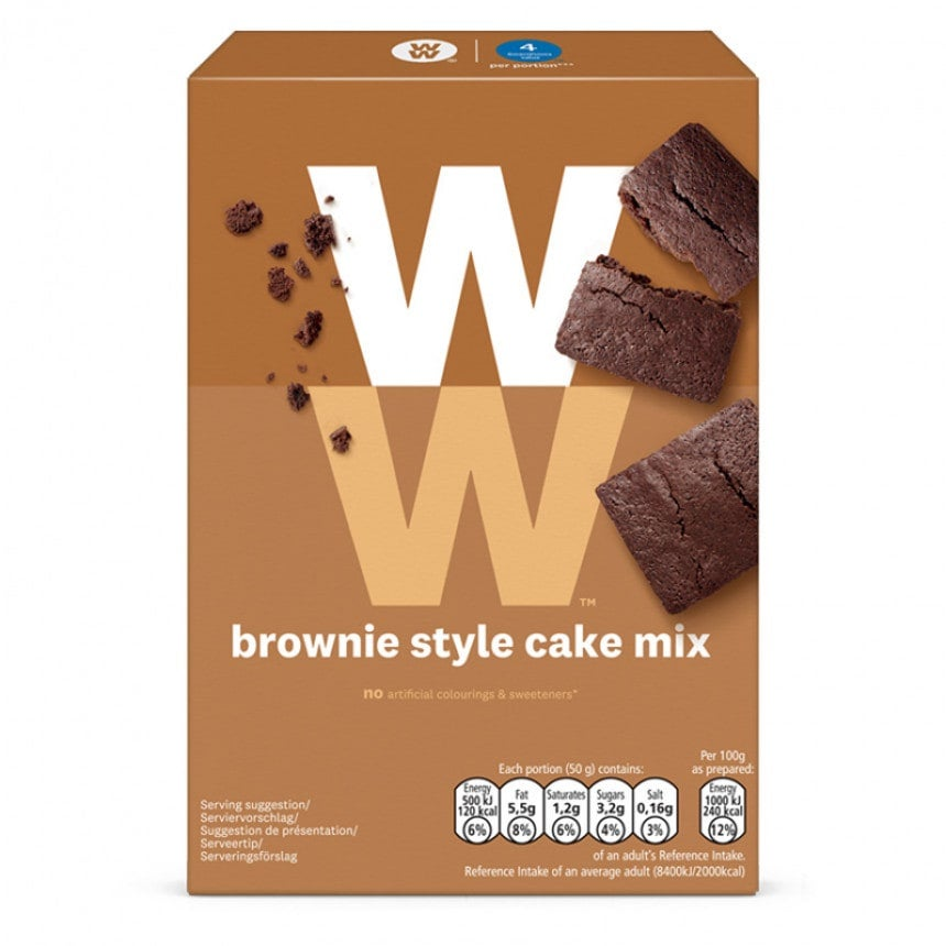 WW brownie cake mix verpakking