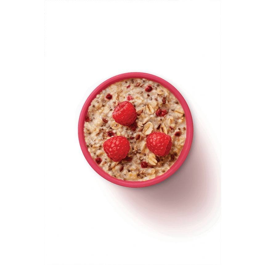 WW chia & raspberry porridge bowl