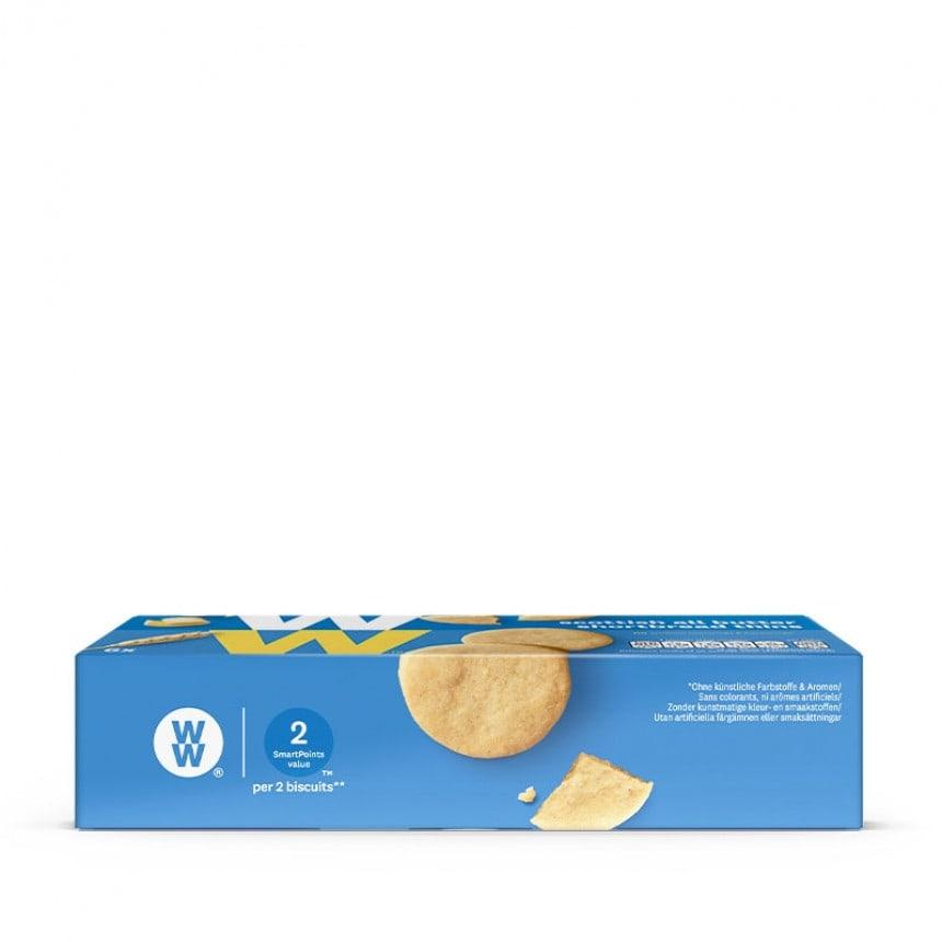 Zijkant verpakking WW schotse boterkoekjes