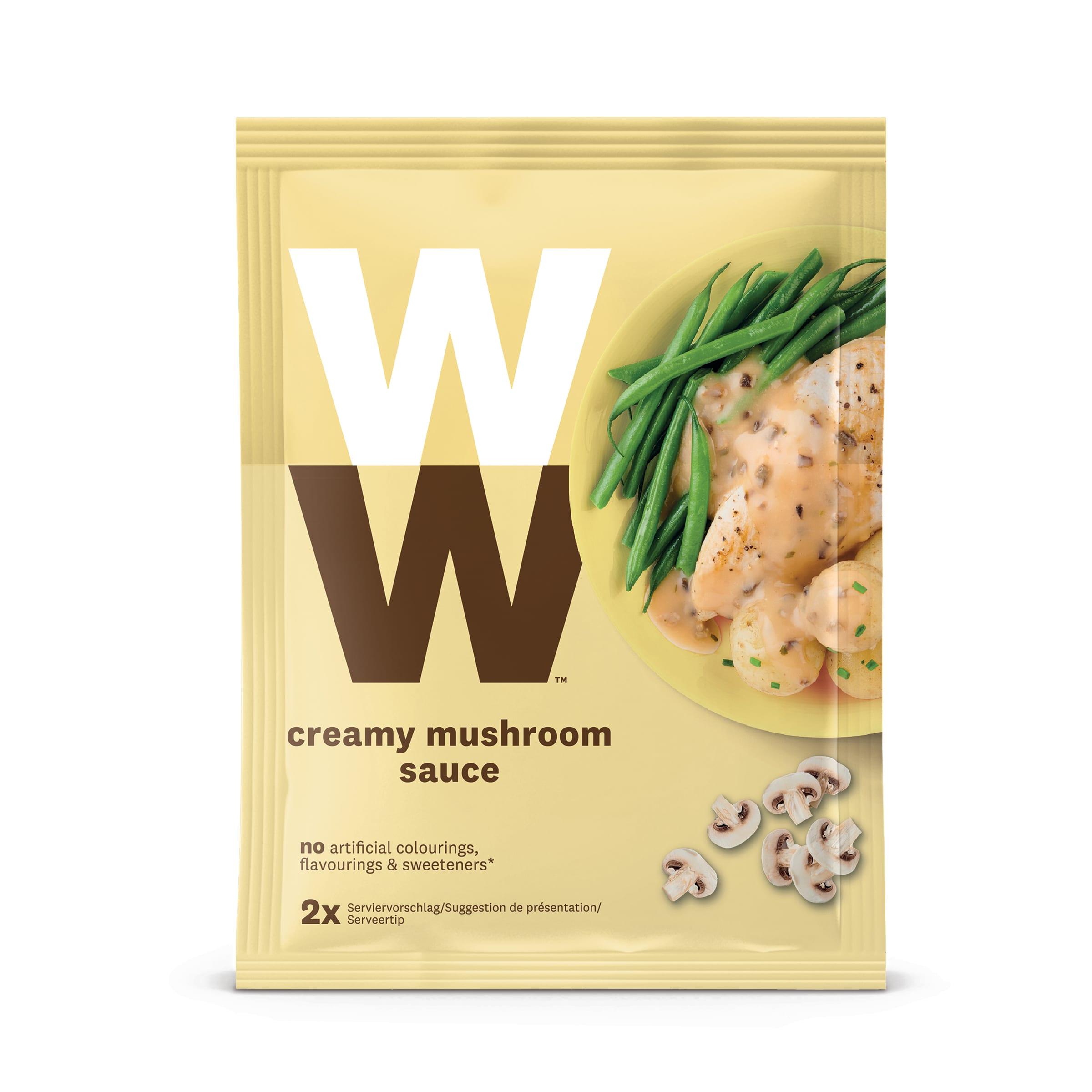 Een zakje Chapignon saus van WW, goed voor 2 porties saus
