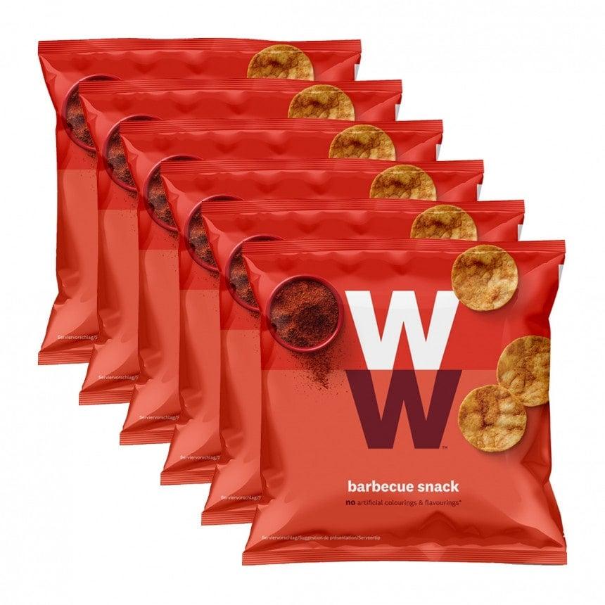 Verpakkingen WW BBQ chips 5 + 1 gratis