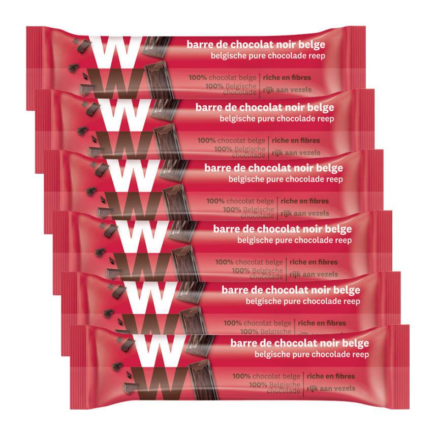WW belgische pure chocolade 5 + 1 gratis
