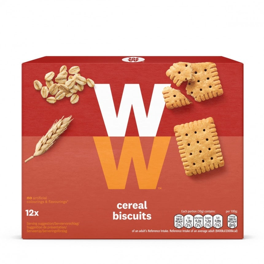 doos WW cereal biscuits