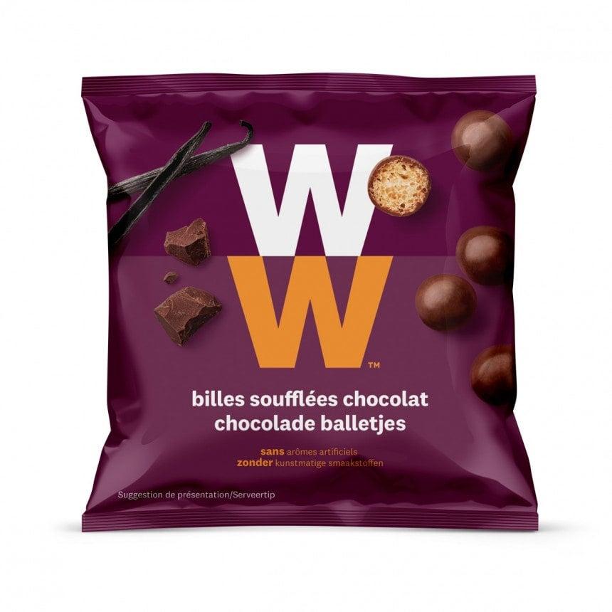 Verpakking WW Chocolade balletjes