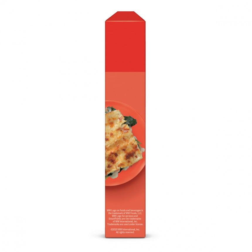 Zijkant 2 verpakking WW gele linzen lasagne
