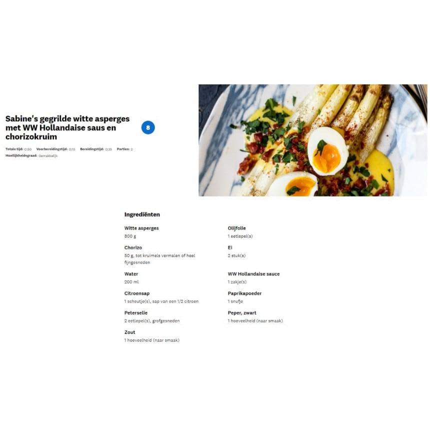 WW hollandaise saus recept