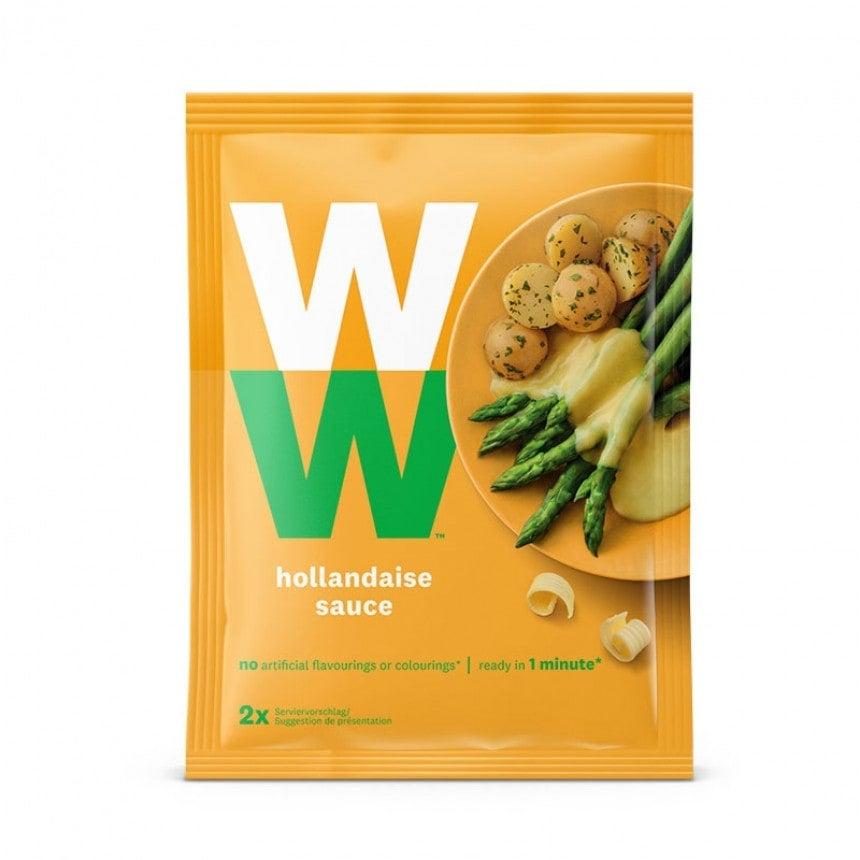 Een zakje WW Hollandaise saus, goed voor 2 porties saus