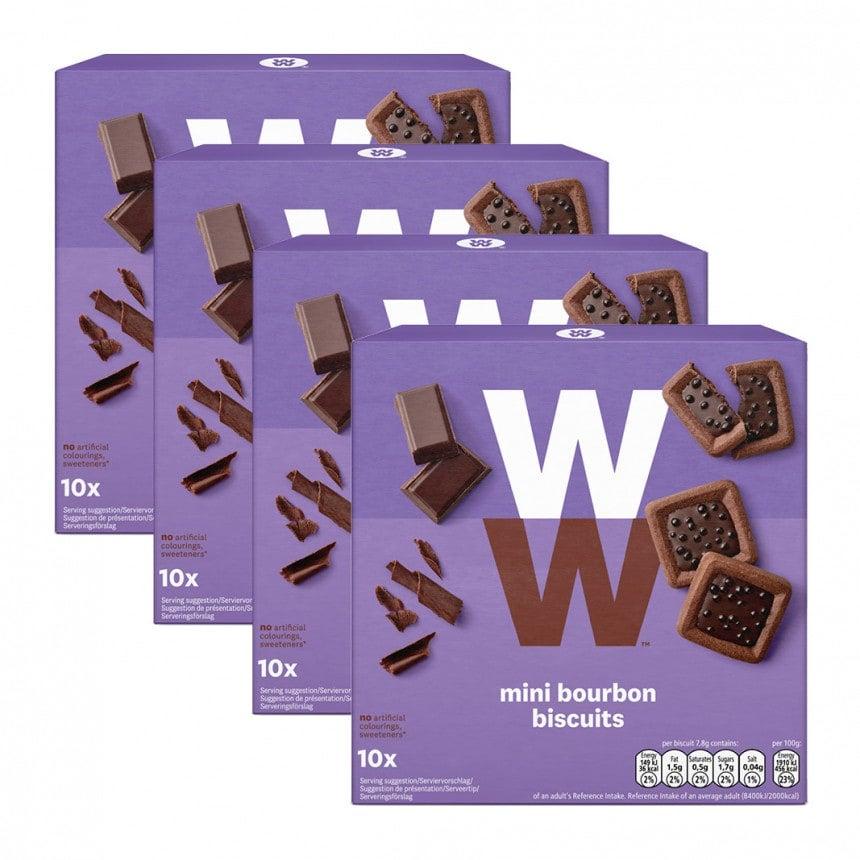 Verpakkingen WW bourbon biscuits 3 + 1 gratis