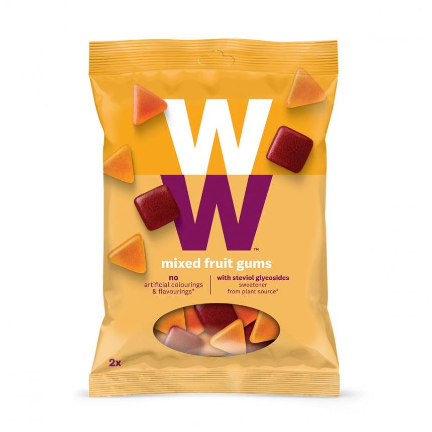 zakje met WW mixed fruit gums