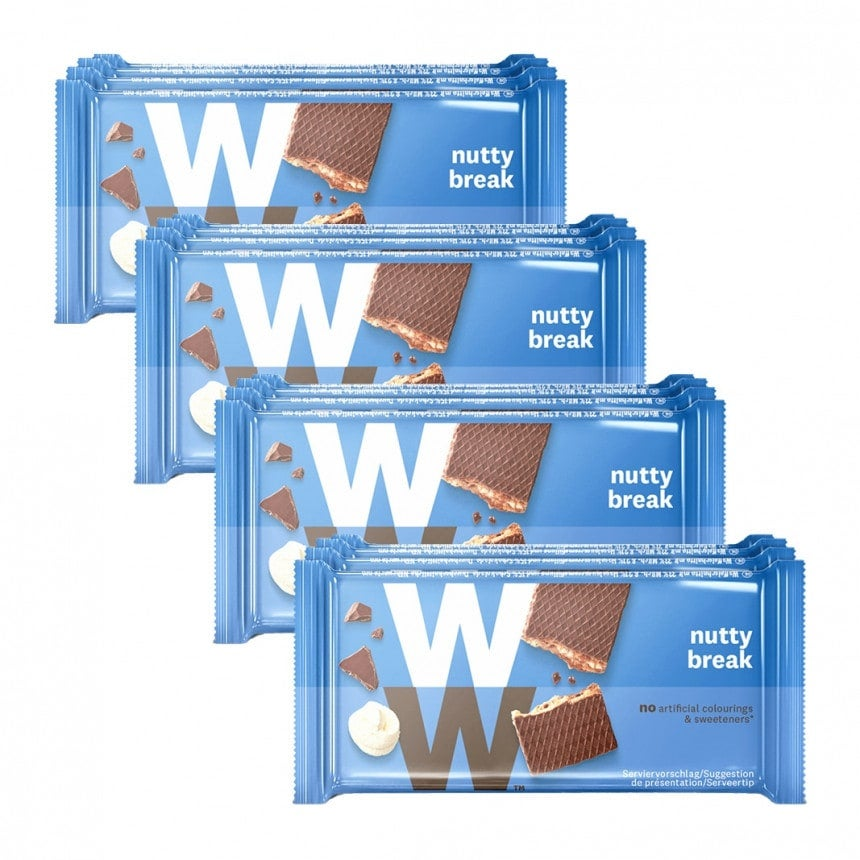 Verpakkingen WW nutty break 3 + 1 gratis