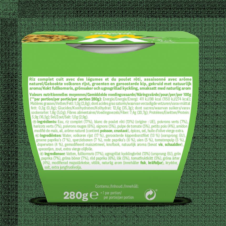 Verpakking WW paella met kip info