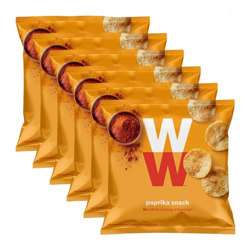 Verpakkingen WW paprika chips 5 + 1 gratis