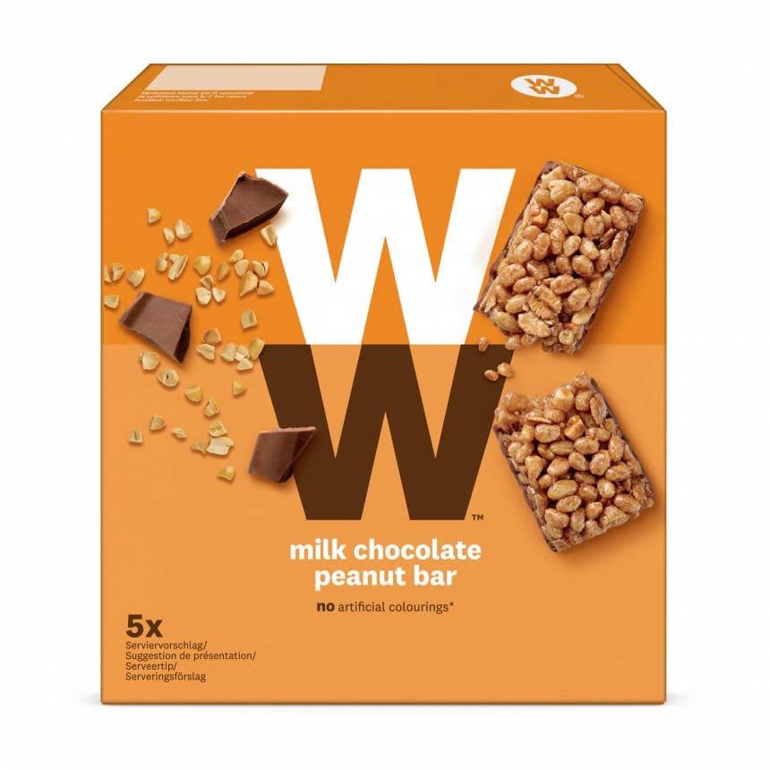 Verpakking ww pinda mueslireep met melkchocolade