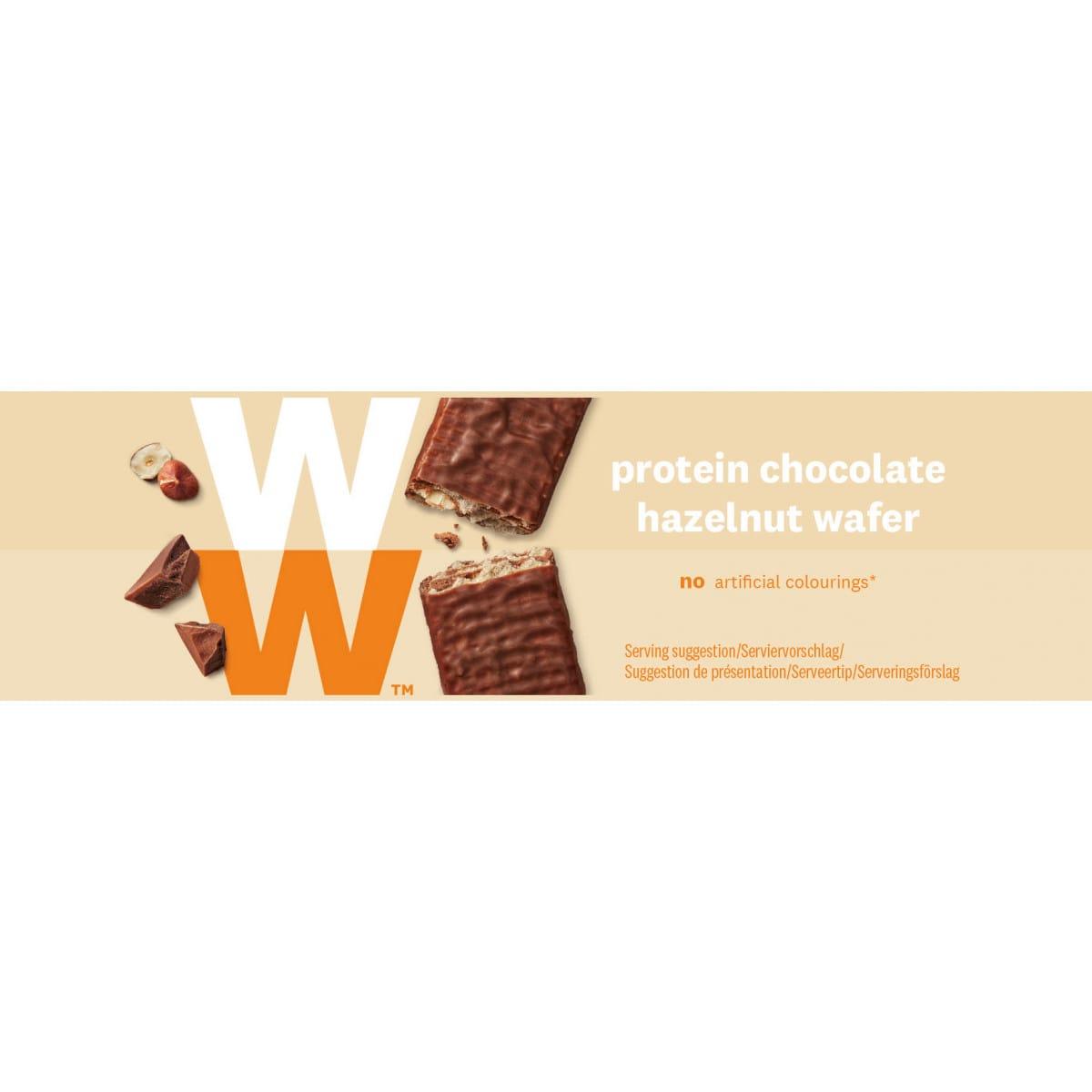 Doos WW proteine chocolade hazelnoot reep
