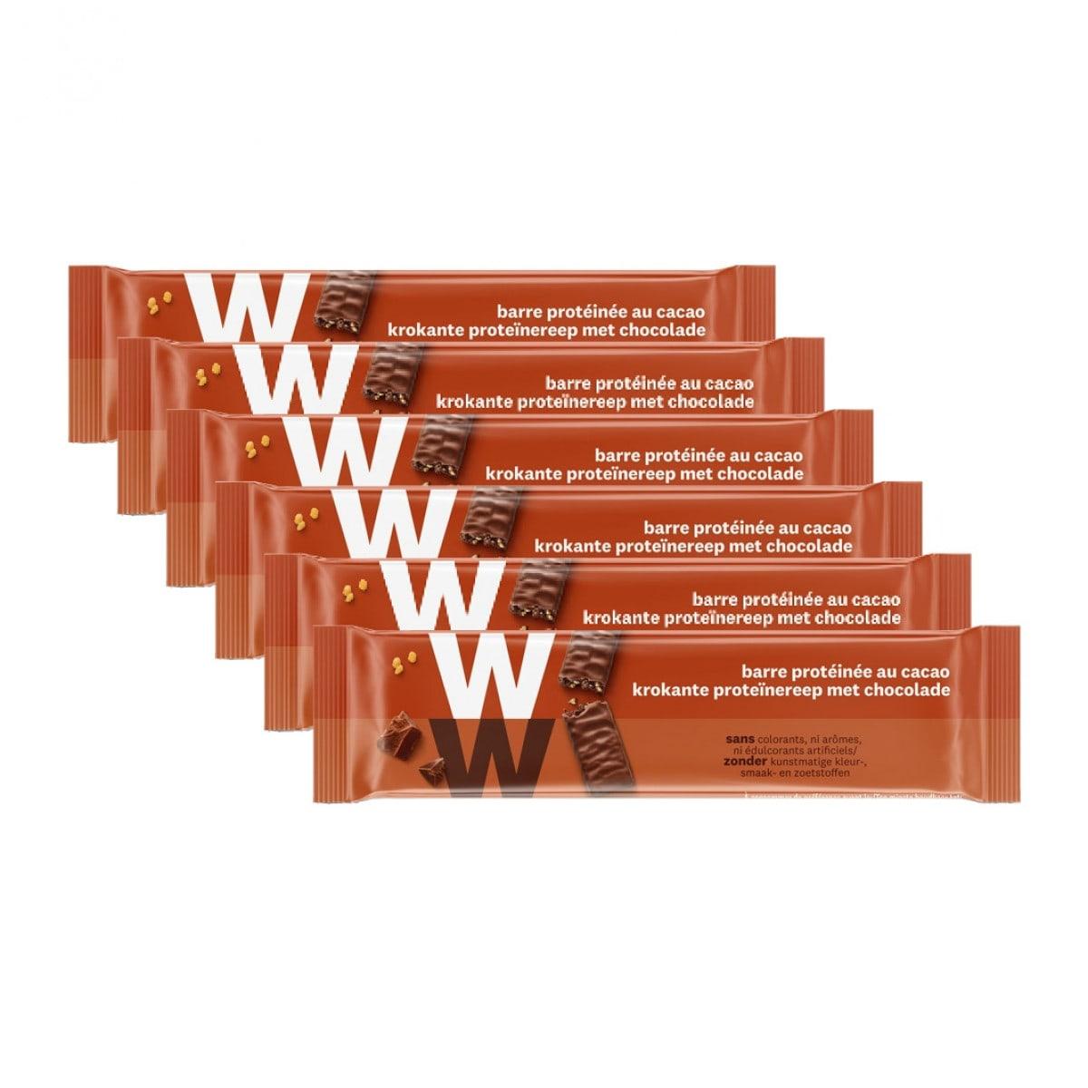 Verpakkingen WW proteine chocolade reep 5 + 1 gratis