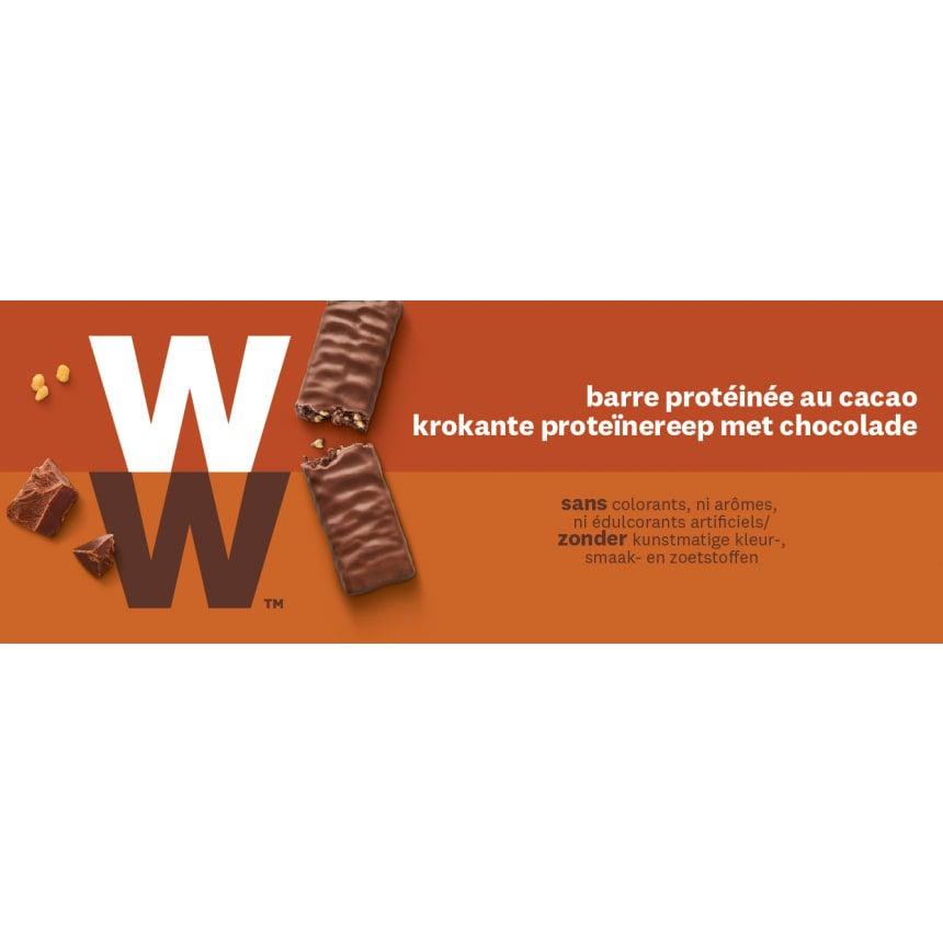 Doos WW proteine reep met melkchocolade