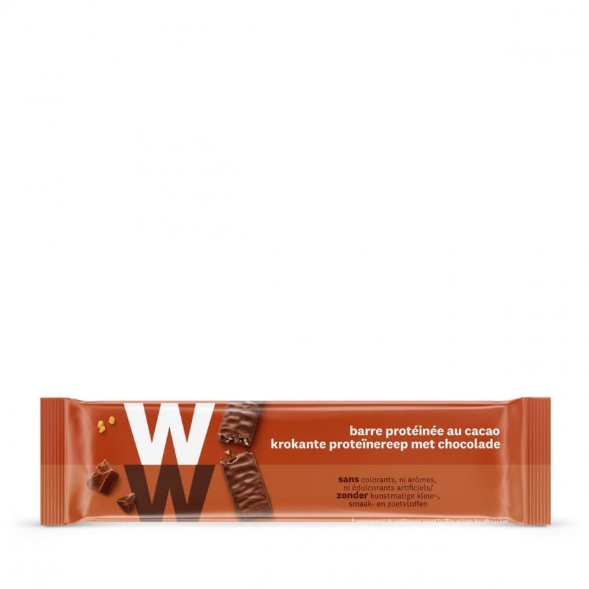 Verpakking WW proteine reep met melkchocolade