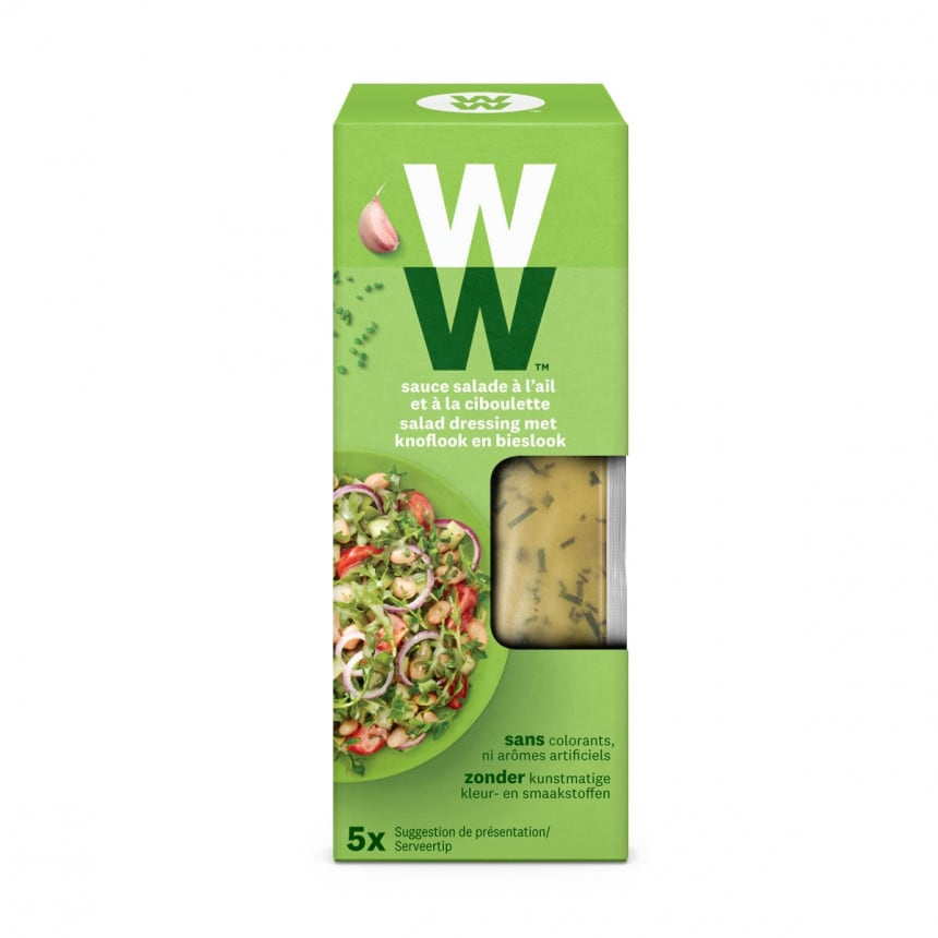 Verpakking WW Salade knoflook en bieslook dressing