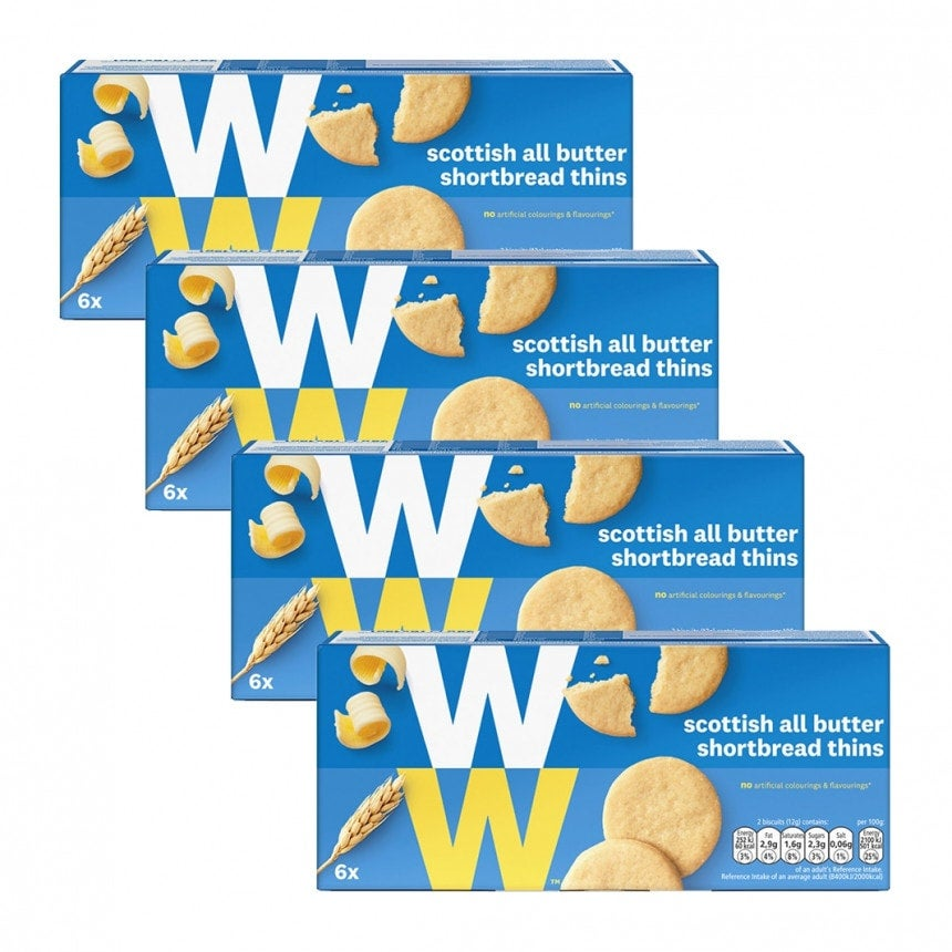 Verpakkingen WW scottish butter cookies 3+1 gratis