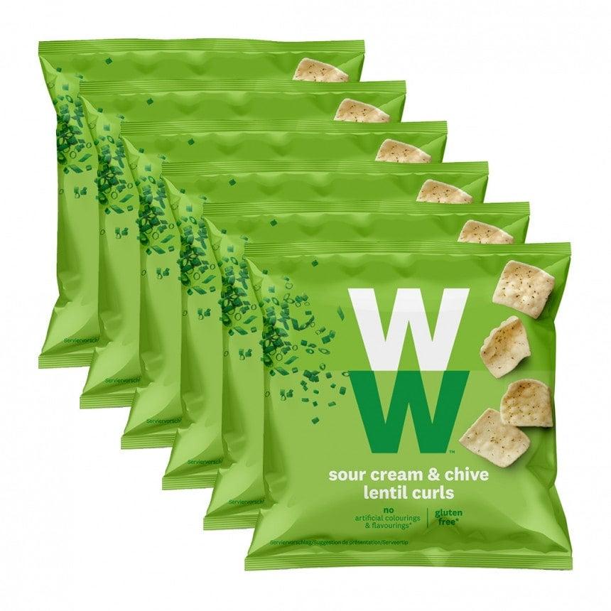 Verpakkingen WW sour cream & bieslook 5 + 1 gratis