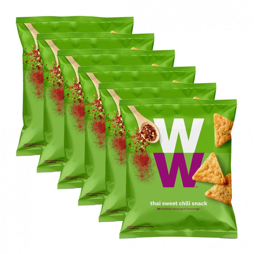 Verpakkingen WW thai sweet chili chips 5 + 1 gratis