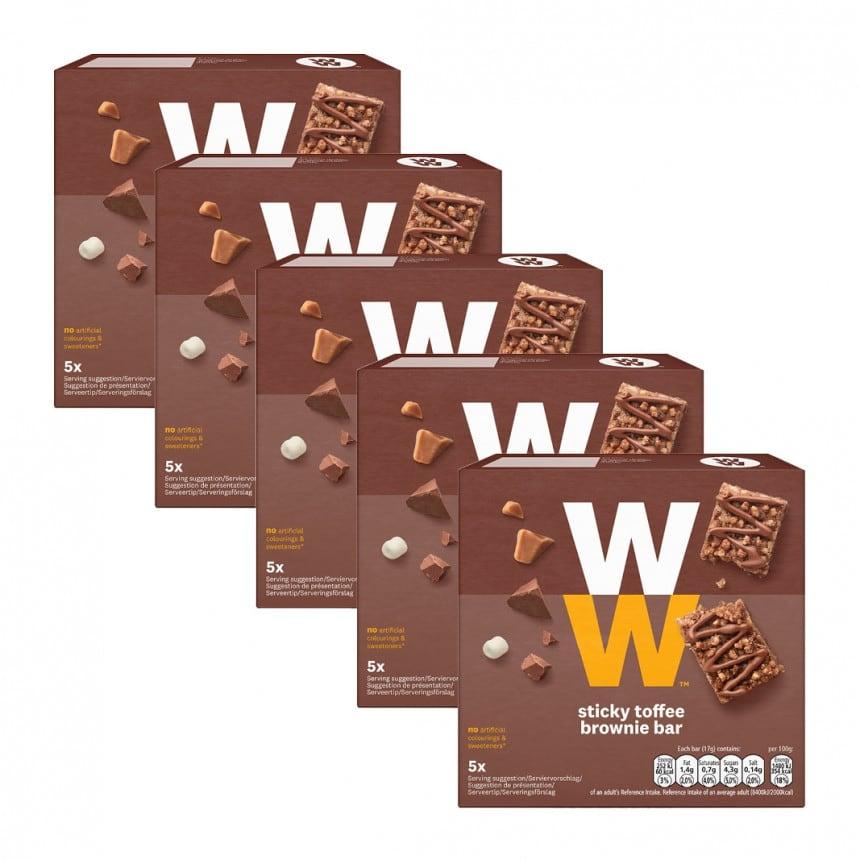 Verpakkingen WW toffee stick brownie 4 +1 gratis