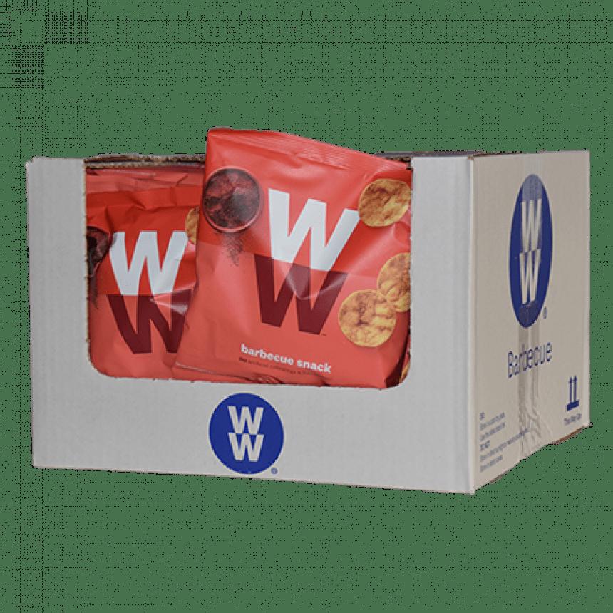 Doos WW volume voordeel: Barbecue chips snack