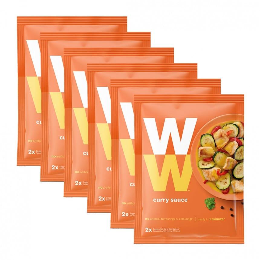 Zakjes WW volume voordeel 6x curry saus