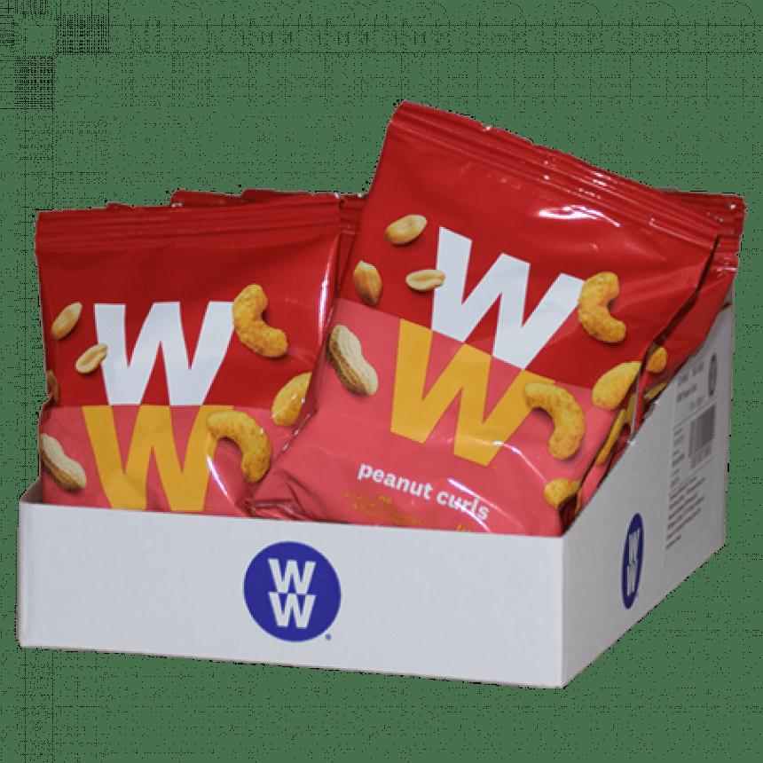 WW volume voordeel peanut curls chips snack