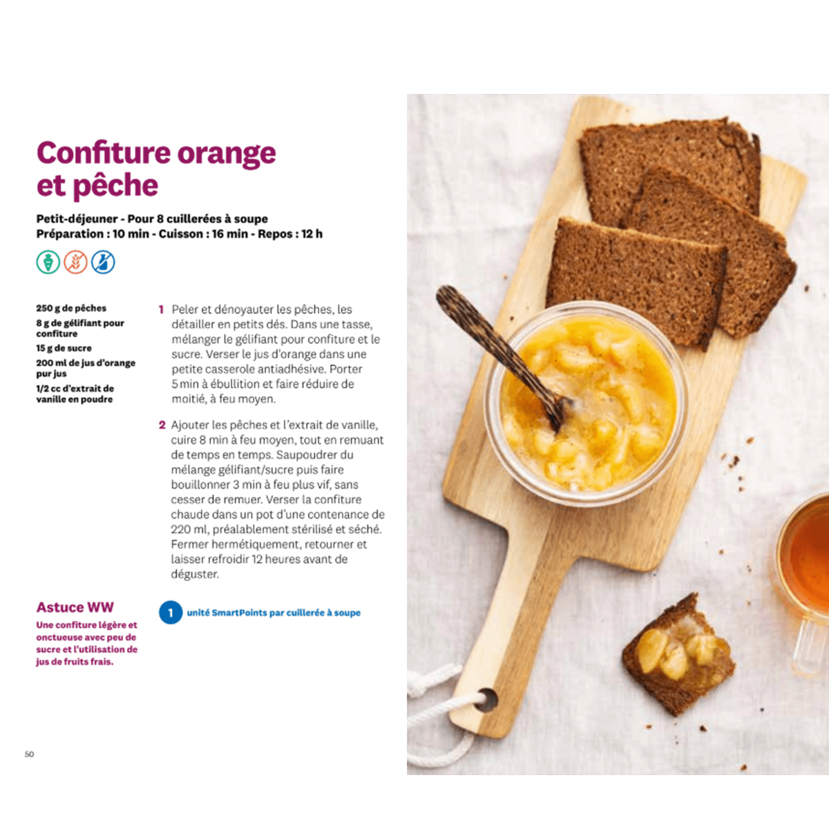 Cuisinez Malin confiture orange et peche