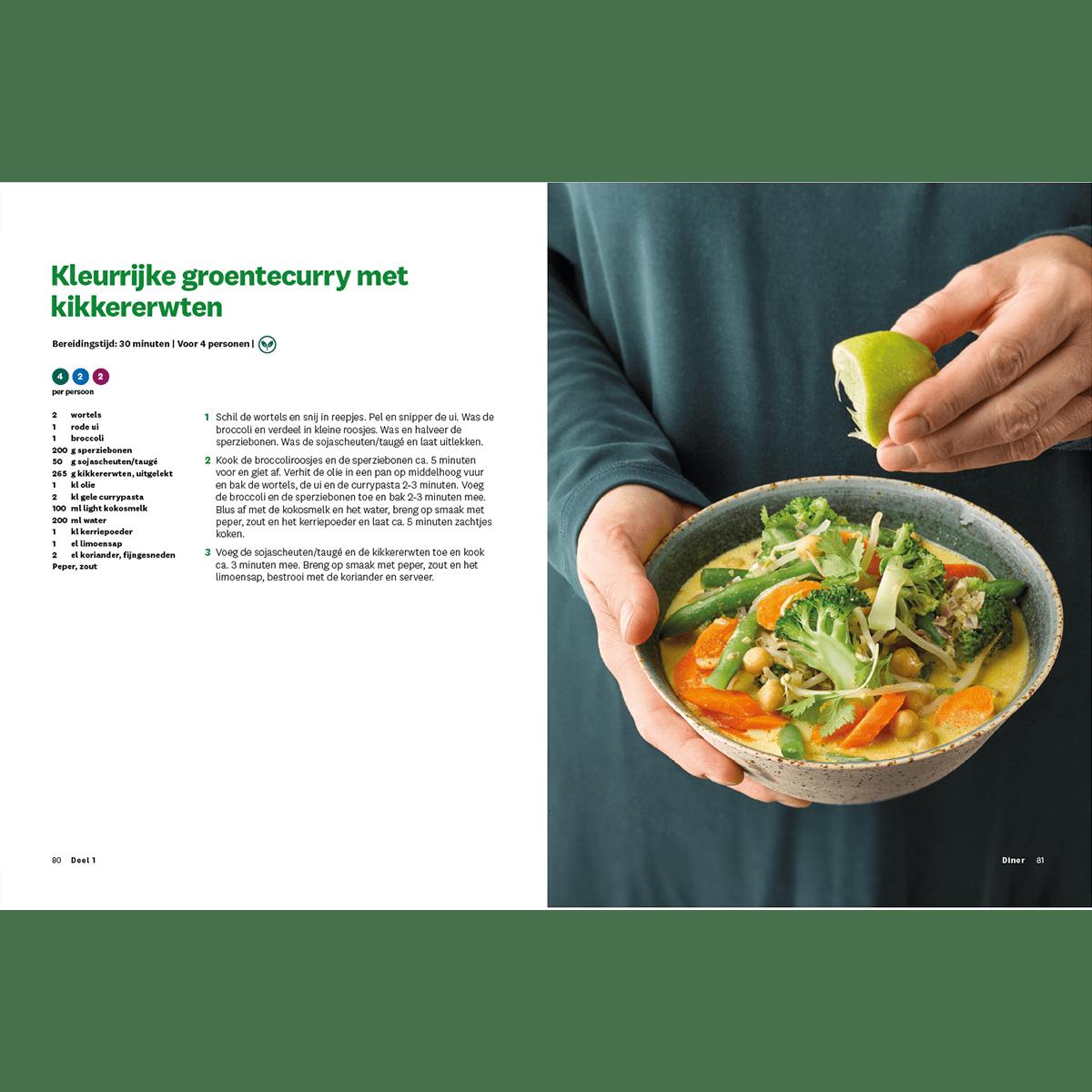 Programmakookboek deel 1 kleurrijke groentecurry met kikkererwten