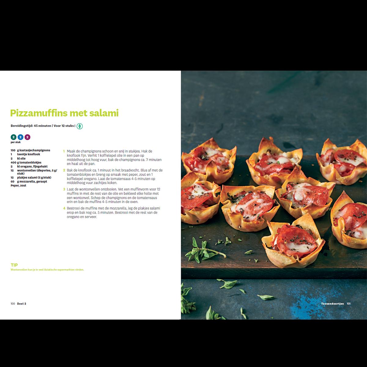 Programmakookboek deel 2 pizzamuffins met salami