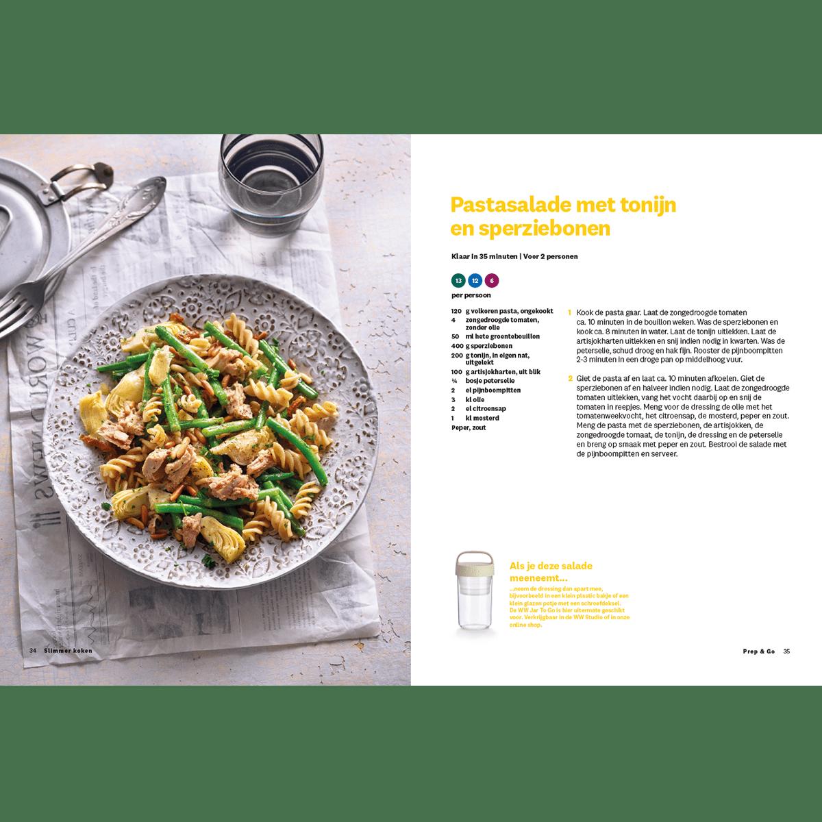 Slimmer Koken pastasalade met tonijn en sperziebonen