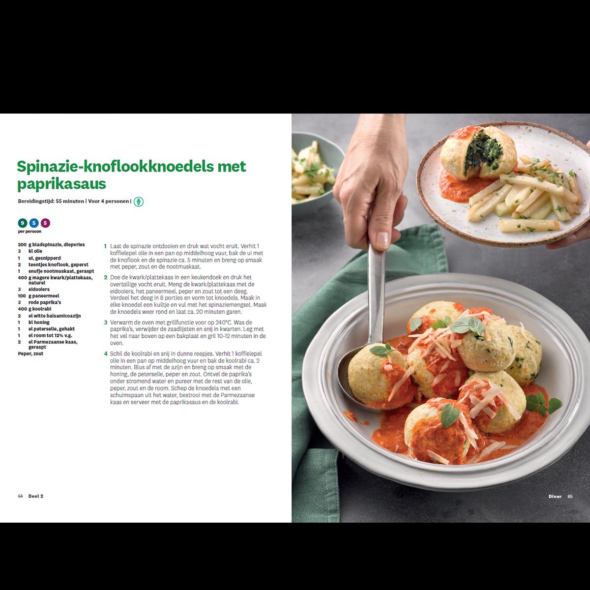 Programmakookboek deel 2 spinzie-knoflookknoedels met paprikasaus